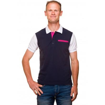Polo homme classique coton piqué tricolore