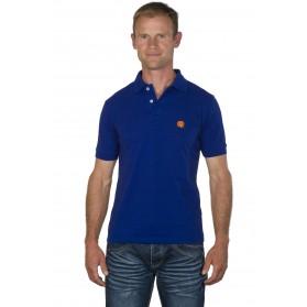 Polo racing homme bleu électrique