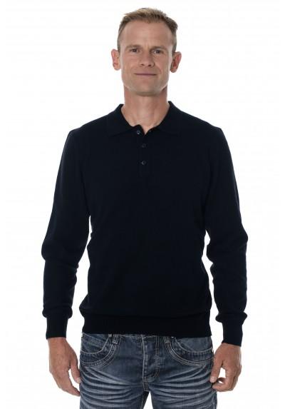 acheter en ligne 0a8fe 27f47 Pull homme col polo - Pull en laine mérinos avec col polo ...