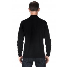 Gilet homme cachemire 100% noir zippé