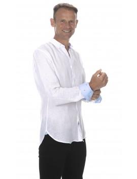 Chemise en lin homme blanche