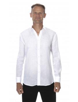 Chemise en lin blanc homme