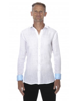 Chemise en lin blanche homme