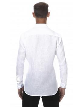 Chemise originale homme en lin blanc