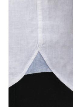 Chemise bicolore homme en lin blanc