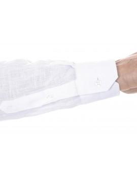 Chemise en lin  blanche homme manches longues