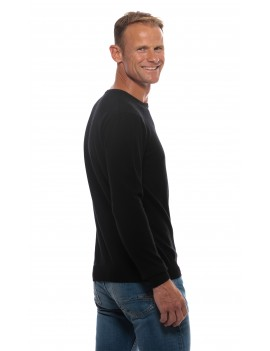 Pull cachemire col rond noir homme