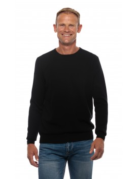 Pull cachemire col rond homme noir