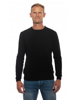 Pull col rond homme cachemire noir