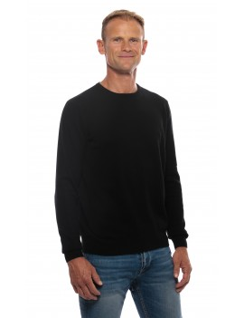 Pull cachemire homme col rond noir