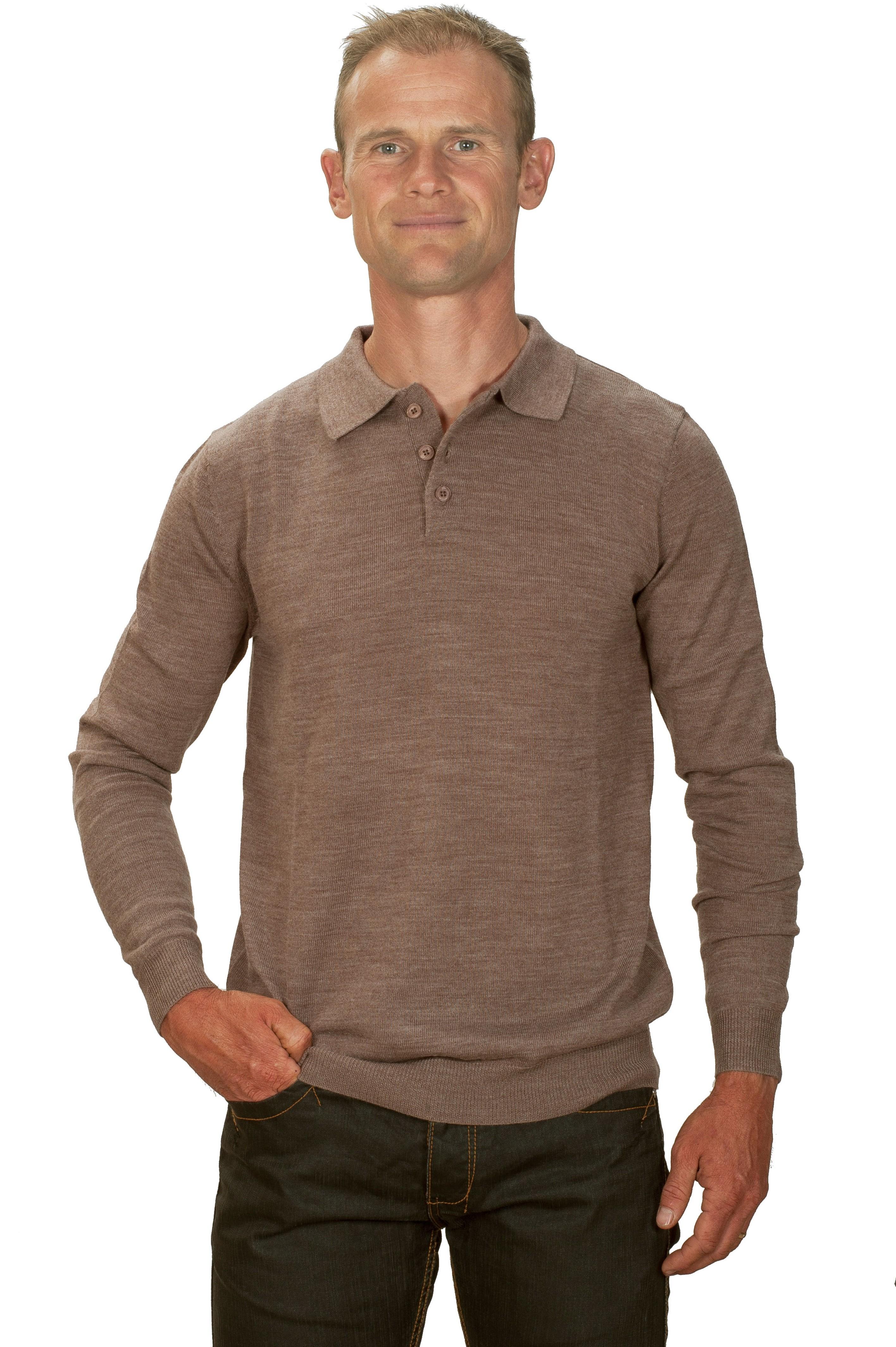 magasin en ligne 1550c f1162 Pull cachemire homme col polo beige | Ugholin