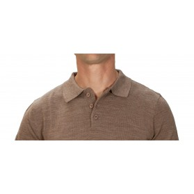 Pull cachemire homme 50% col polo beige