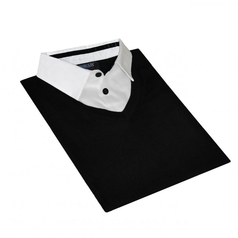 pull chemise homme avec col chemise pull col en v ugholin. Black Bedroom Furniture Sets. Home Design Ideas