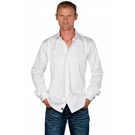 Chemise cintrée homme unie blanche Harry