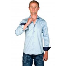 Chemise cintrée homme coton bleue ciel Ethan
