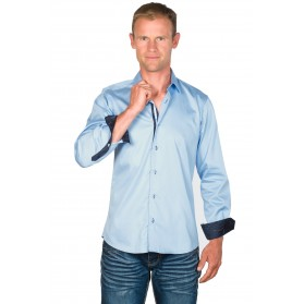 Chemise cintrée homme coton bleue ciel Dustin