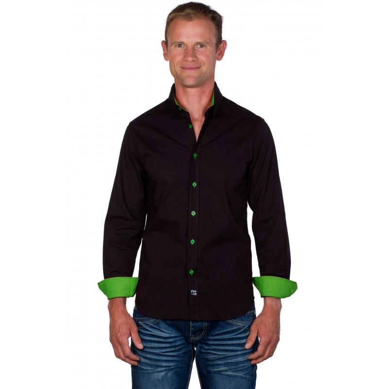 chemise slim fit homme marron vert anis ugholin. Black Bedroom Furniture Sets. Home Design Ideas