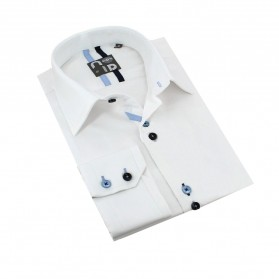Chemise homme originale coton blanche Andy