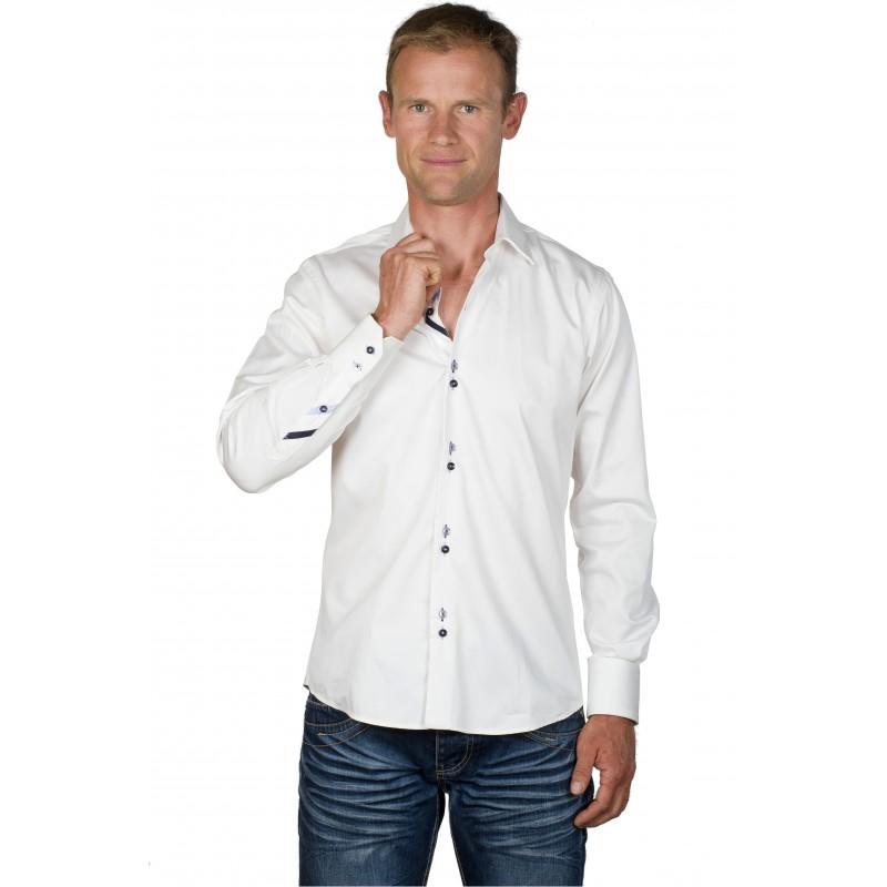 chemise homme coton blanche andy ugholin. Black Bedroom Furniture Sets. Home Design Ideas