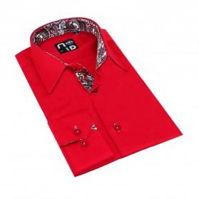 Chemise homme originale coton rouge Tom