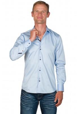 Chemise homme originale coton bleu ciel Andy