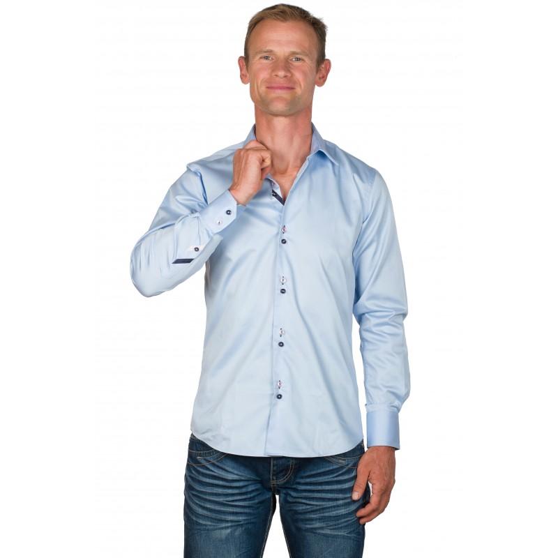 chemise homme coton bleu ciel andy ugholin. Black Bedroom Furniture Sets. Home Design Ideas