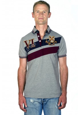 Polo homme classique rugby gris