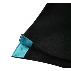 Polo homme classique uni noir brodé cane corso