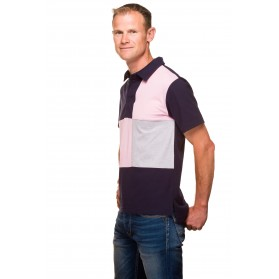 Polo homme classique rugby jersey coton tricolore