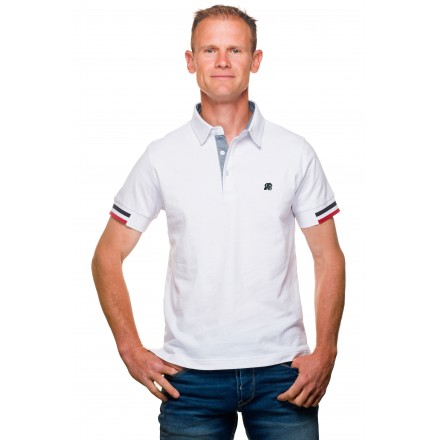 Polo homme classique jersey coton uni blanc