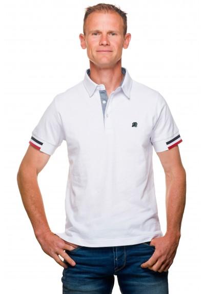 5e81369045cbb Polo homme jersey coton uni blanc   Ugholin