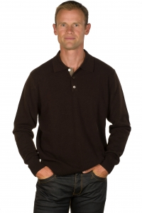 Le pull cachemire homme col polo